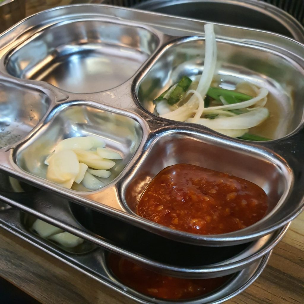 Tray with Condiments